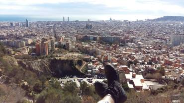 View of Barcelona from the Bunkers of El Carmel.
